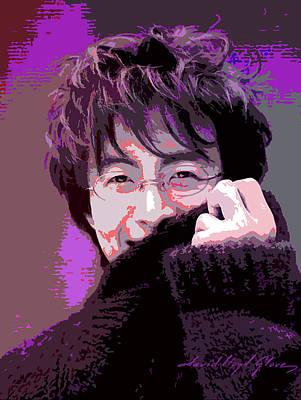 Acrylic Portrait Painting - Bae Yong Joon - Winter Sonata by David Lloyd Glover