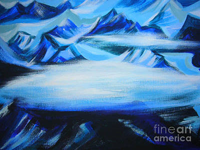 Art Print featuring the painting Baffin Island by Anna  Duyunova