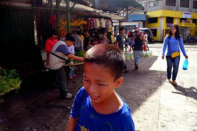 Photograph - Bag Helper In Baguio by Christopher Shellhammer