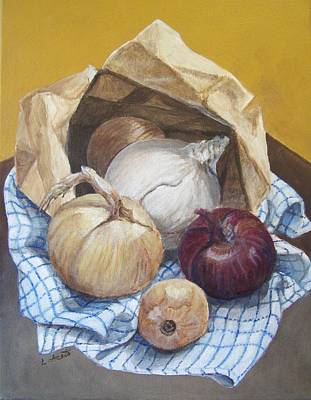 Painting - Bag Of Onions by Laura Aceto
