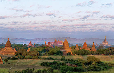 Photograph - Bagan Pagodas At Sunrise by Pradeep Raja PRINTS