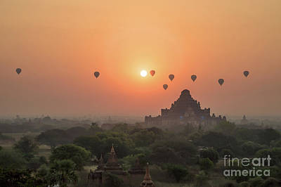 Burmese Python Photograph - Bagan Temple by Delphimages Photo Creations