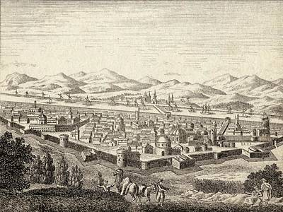 Iraq Drawing - Bagdad Iraq In Late 18th Century by Vintage Design Pics