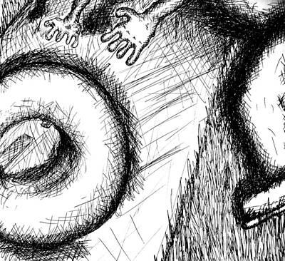 Bagel Chaser Art Print by Jera Sky