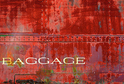 Photograph - Baggage In Red by Bud Simpson