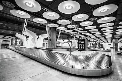 Photograph - Baggage Reclaim Madrid Airport by Gary Gillette
