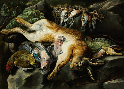 Painting - Bagged Hare And Game-fowl by Jan Fyt