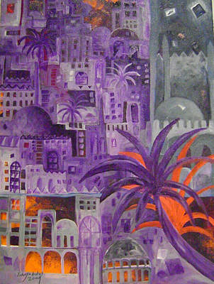Baghdad City Painting - Baghdad In Dreems by Yahya Batat