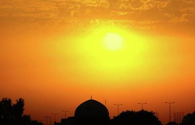 Photograph - Baghdad Mosque At Sunset by Steven Green