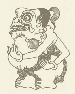 Mahabharata Painting - Bagong by Dedi Dolrased