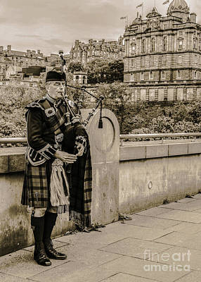 Photograph - Bagpipe Player Edinburgh by Lexa Harpell