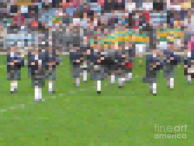 Photograph - Bagpipers by Dave Luebbert