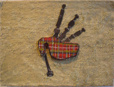 Bagpipes Balsa Art Print by Paul Knotter