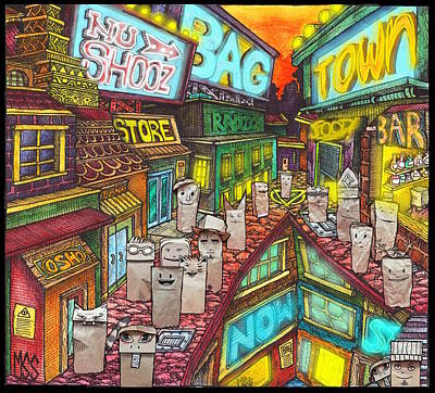 Mixed Media - Bagtown Album Cover by Nu Shooz