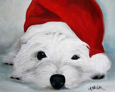 Terrier Painting - Bah Humbug by Mary Sparrow
