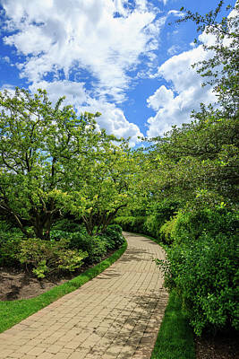 Photograph - Baha'i Temple Garden Path by Joni Eskridge