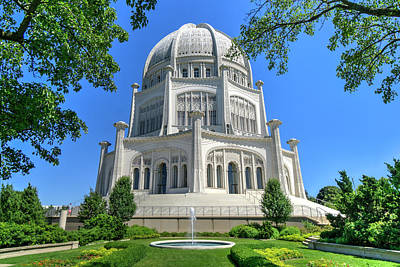 Photograph - Bahai Temple In Wilmette Il by Alan Toepfer