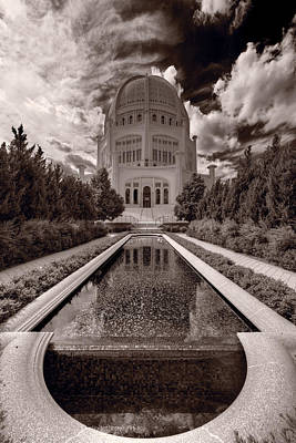 Bahai Temple Reflecting Pool Original by Steve Gadomski