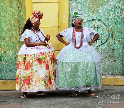 Photograph - Bahai Women Salvador Brazil 8 by Bob Christopher