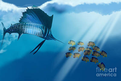 Fish Underwater Painting - Bahama Beauty by Corey Ford