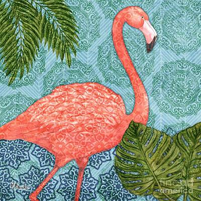 Flamingoes Painting - Bahama Flamingo I by Paul Brent