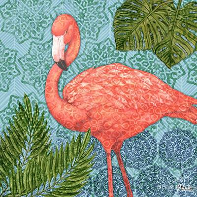 Flamingoes Painting - Bahama Flamingo II by Paul Brent