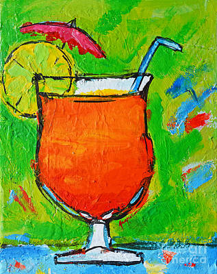 Painting - Bahama Mama - Tropical Drink by Patricia Awapara