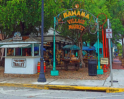 Photograph - Bahama Village Market Key West Florida by Rebecca Korpita