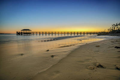 Photograph - Bahamas Sunrise With Long Pier by Anthony Doudt