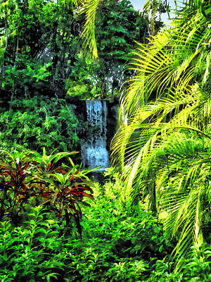 Photograph - Bahamas - Tropical Waterfall by Susan Savad