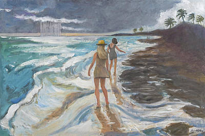 Painting - Bahia Honda Beach by Laura Lee Cundiff