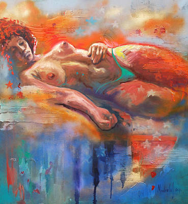 Nude Wall Art - Painting - Bahia by Rick Nederlof