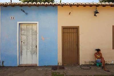 Light Paint Photograph - Bahia Woman by Matthew Bamberg