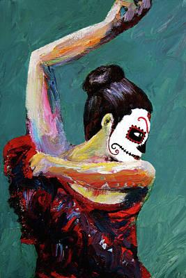 Bailan De Los Muertos Art Print