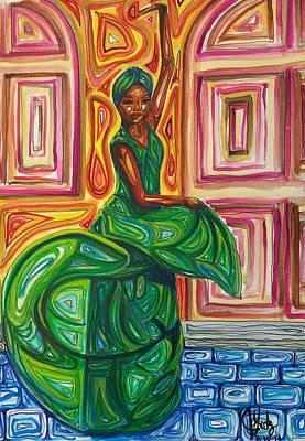 Puerto Rico Painting - Bailando Bomba En San Juan by Janice Gutierrez