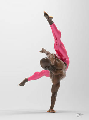 Bailarin Acrobata Art Print