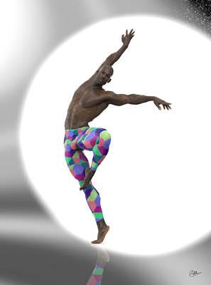 Bailarin Con Foco Art Print