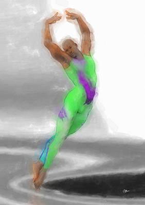 Ballet Dancers Painting - Bailarin De Danza Clasica by Quim Abella