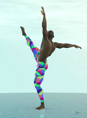 Bailarin Multicolor Art Print