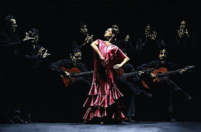Live Music Painting - Bailarina Orgullosa Del Flamenco by Richard Young