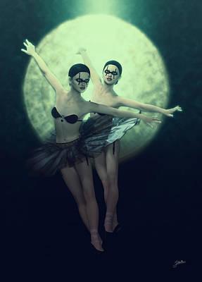 Bailarinas Malditas  Art Print