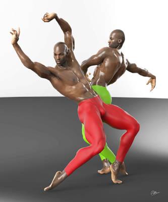 Bailarines Contemporaneos Art Print