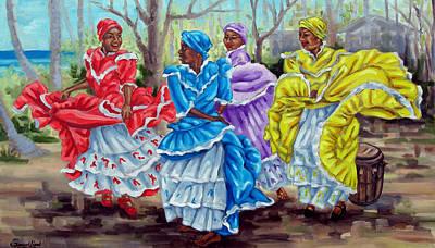 Bomba Painting - Baile De Ronda by Samuel Lind