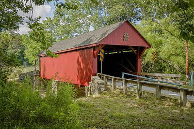 Photograph - Bailey Covered Bridge by Jack R Perry