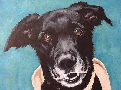 Dog Close-up Painting - Bailey Dog Of Honor by Carol Russell