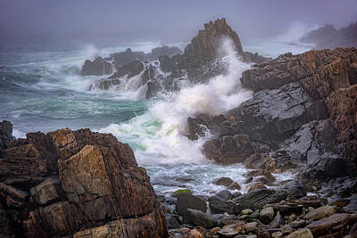 Atlantic Ocean Photograph - Bailey Island Coastline by Rick Berk