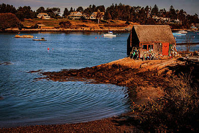 Photograph - Bailey Island Garden Shack Mackeral Cove Maine by Jeff Folger