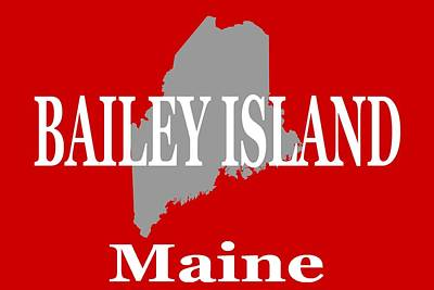 Photograph - Bailey Island Maine City And Town Pride  by Keith Webber Jr
