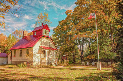 Photograph - Baileys Harbor Keepers House by Trey Foerster