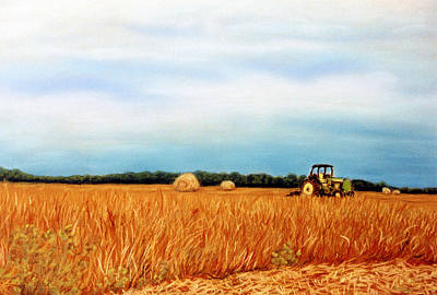 Pastel - Bailing Hay by Jan Amiss Photography